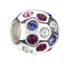 Chamilia silver purple Swarovski charm